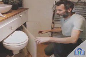 خلاقیت در طراحی توالت فرنگی برای آپارتمان های کوچک
