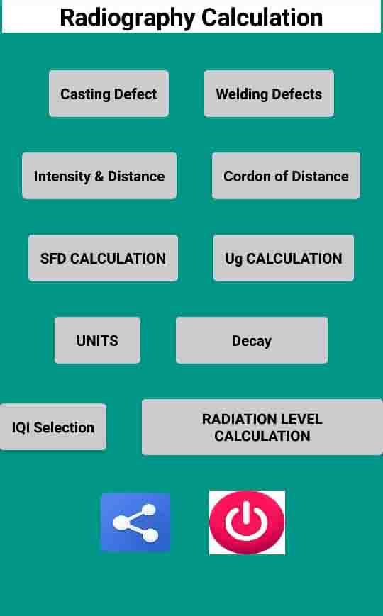 نرم افزار اندروید NDT RT ( رادیوگرافی )