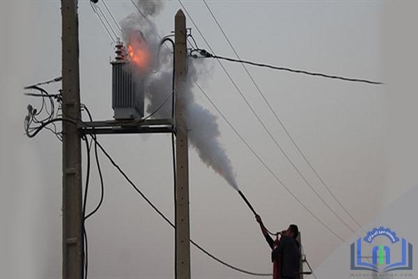 خاموش کردن آتش سوزی ترانس برق