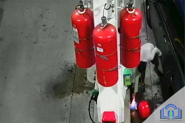 سیستم اطفاء حریق پمپ بنزین