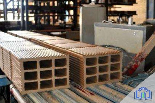 خط تولید آجر ساختمانی در کارخانه